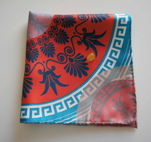 amorgos pocket size silk scarf made in greece contemporary design