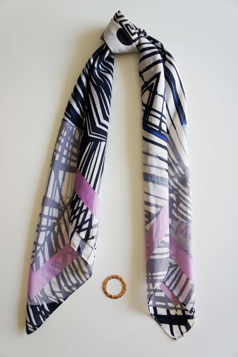 greek print magnadi silk scarves colors of aegean stylish women accessory made in greece