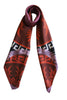 digital printed twill silk scarf made in greece magnadi collection meander antefix print