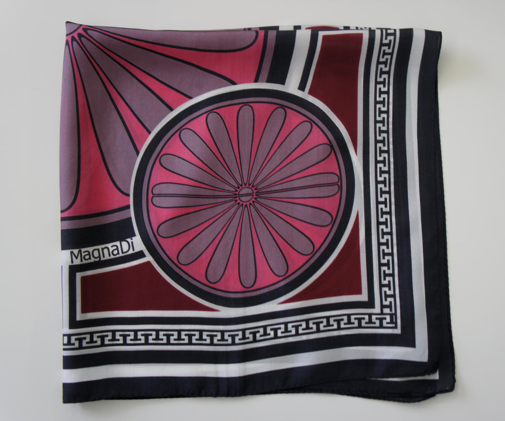magnadi scarves contemporary designs greek prints made in greece silk scarves british vogue winter
