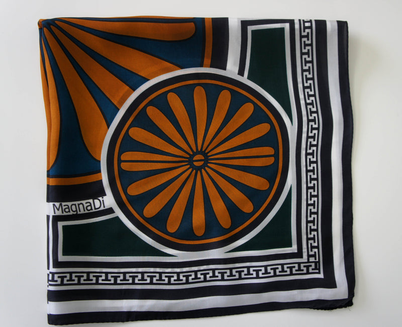 magnadi scarves made in greece silk scarves contemporary designs winter collection stylish accessory for her