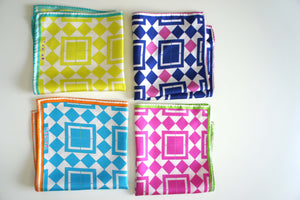 pocket square silk scarf made in greece magnadi scarves gift for him summer colors