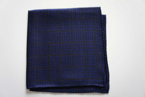magnadi pocket square silk scarf for men made in greece greek key symbol
