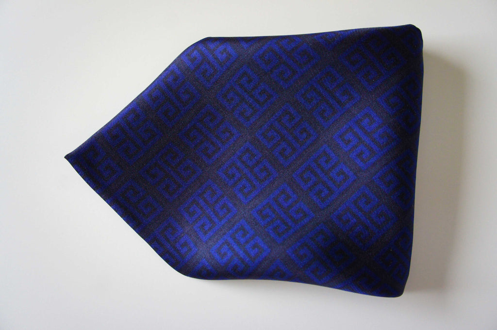 magnadi pocket square silk scarf for men made in greece greek key symbol winter colors