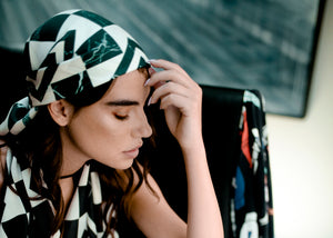 Marble Tile  - Digital Printed TWILL Silk  Scarf