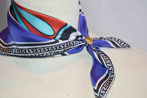 pocket square silk scarf made in greece