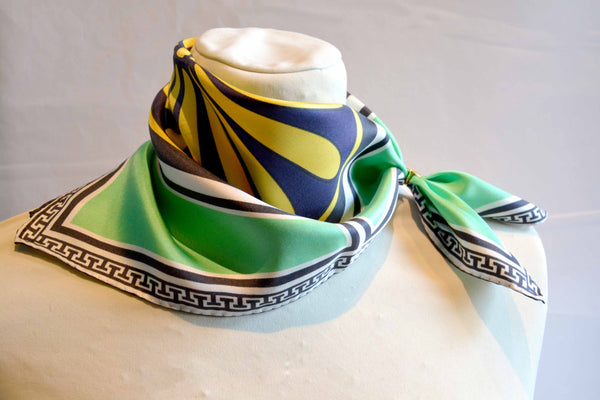 Villa Green - Pocket Square Silk Scarf