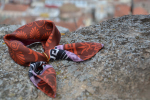 magnadi pocket size silk scarf made in greece greek design featured in british vogue