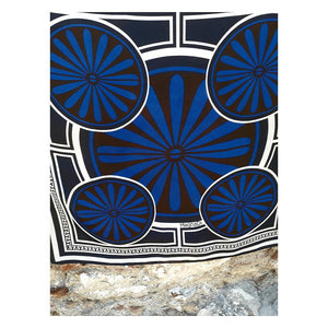 Villa Grande Dark Night - Digital Print Silk Square Scarf