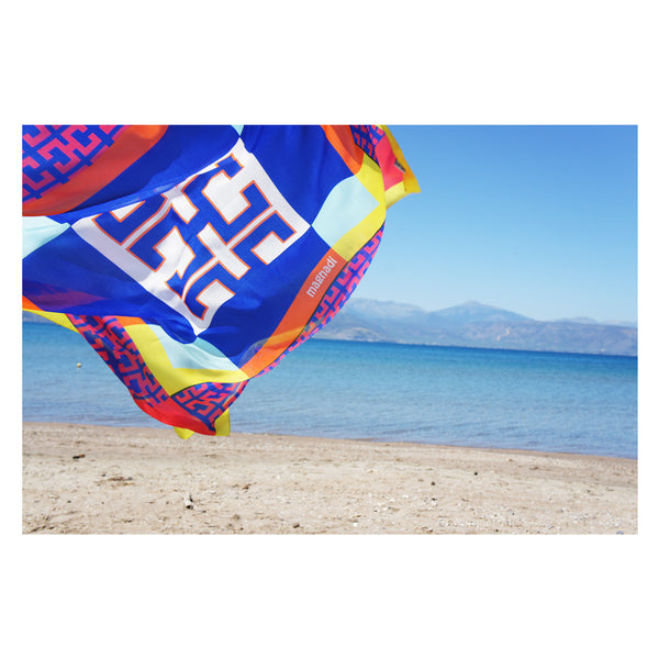 magnadi scarves made in Greece summer prints Greek scarves
