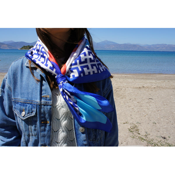 magnadi scarves made in Greece summer printed scarves Greek design