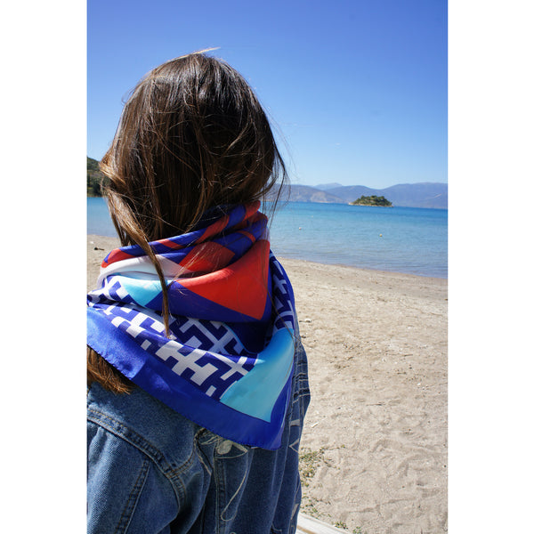 magnadi scarves made in Greece summer Greek silk designs