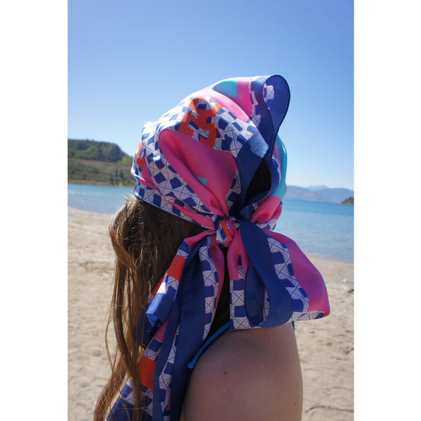 magnadi scarves Greek silk scarves how to wear long silk scarves summer prints