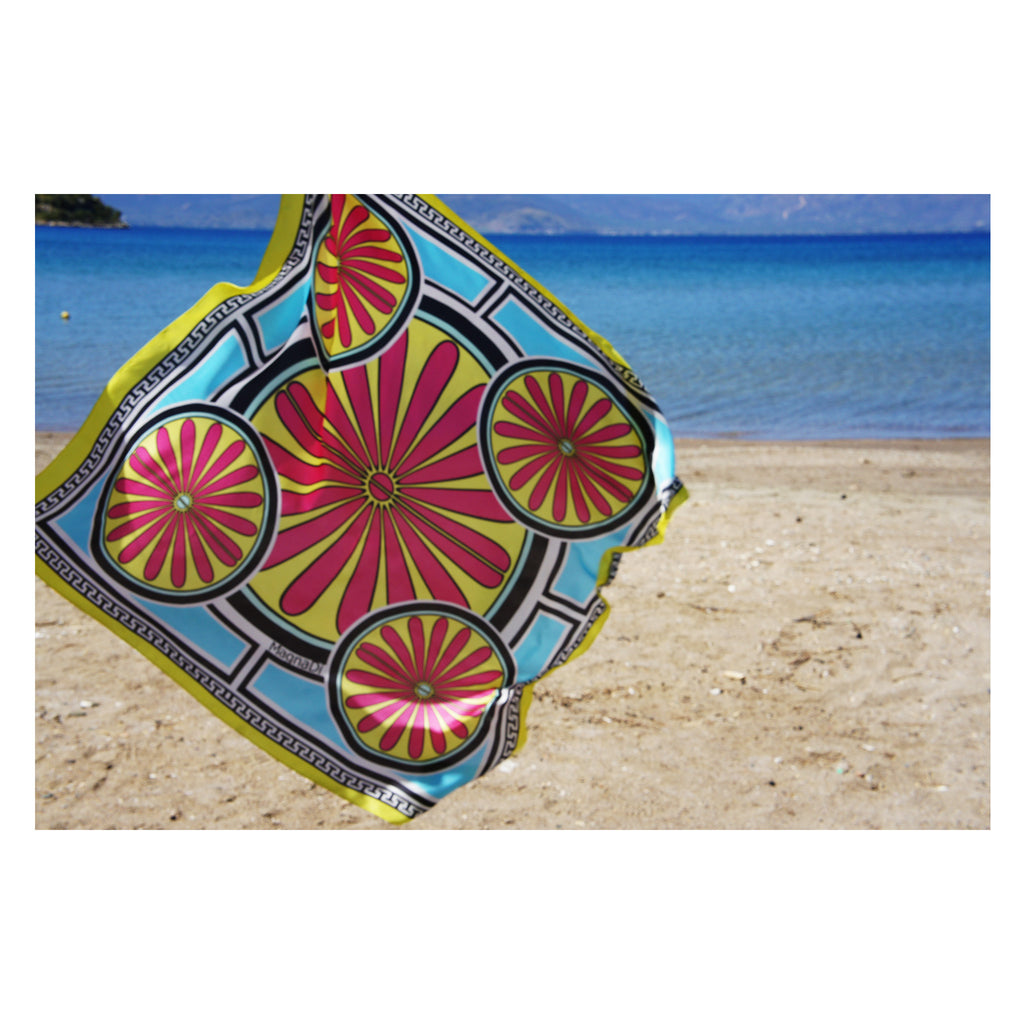 MagnaDi scarves Greek silk scarves summer prints Greek design