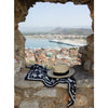 Island Tile Black - Digitally Printed Silk Square Scarf