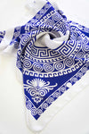beautiful blue silk scarf
