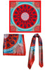 amorgos contemporary greek print silk scarf twill made in greece magnadi scarves stylish women accessory for her