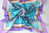 a contemporary design greek silk scarf classic and chic