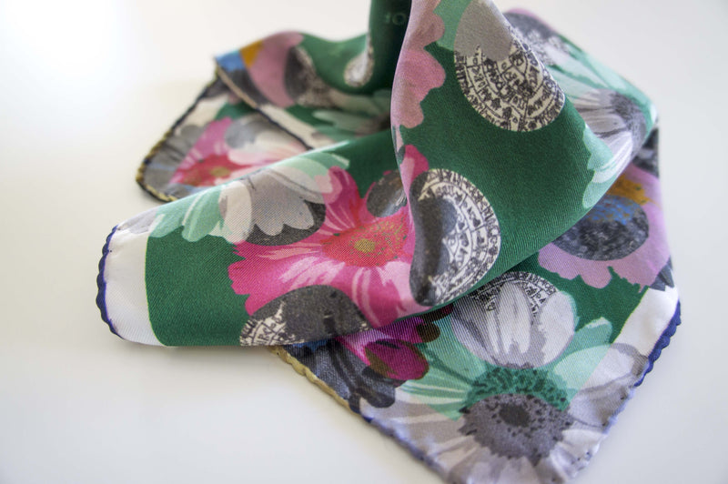 pocket size silk scarf made in greece