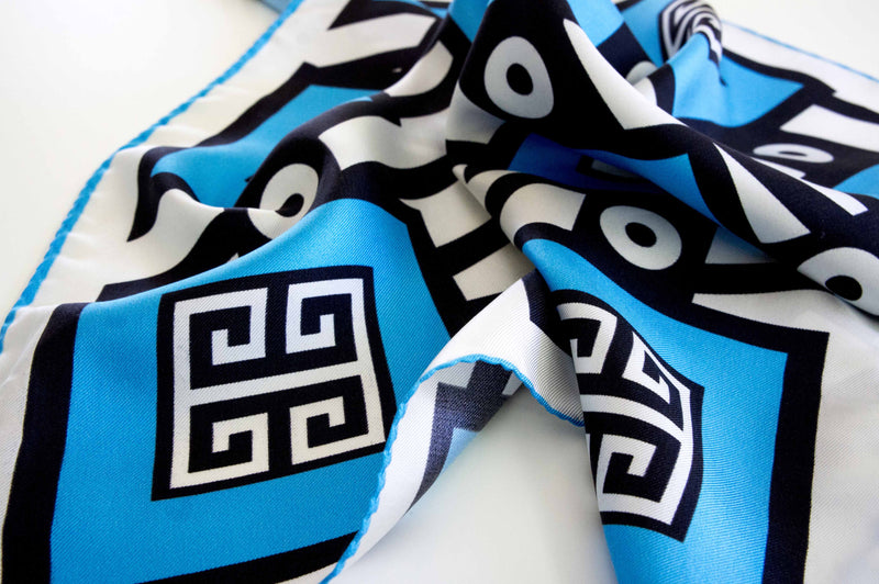 greek design pocket size silk scarf made in greece accessory gift for her magnadi scarves