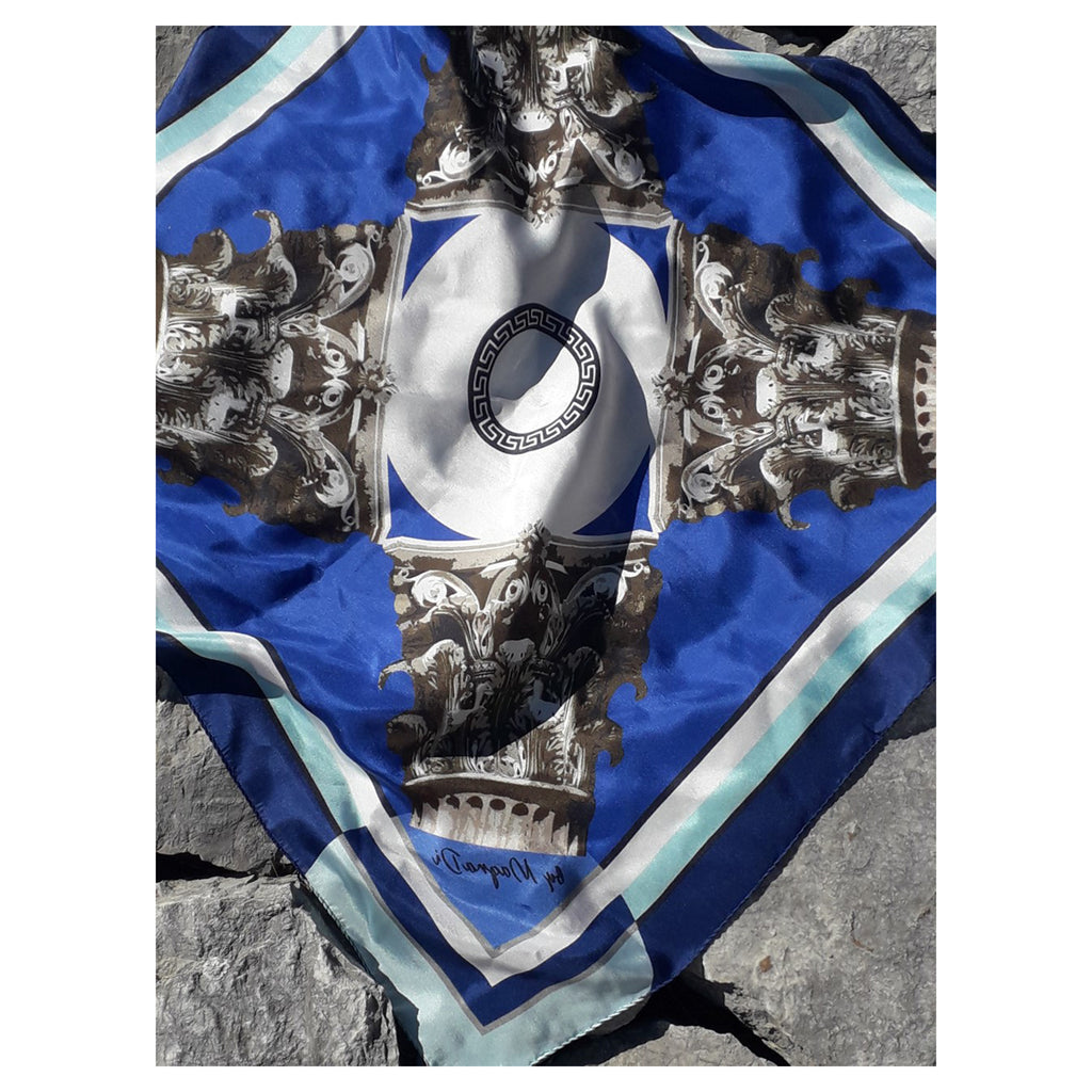 KIONES - Digitally Printed Silk Square Scarf