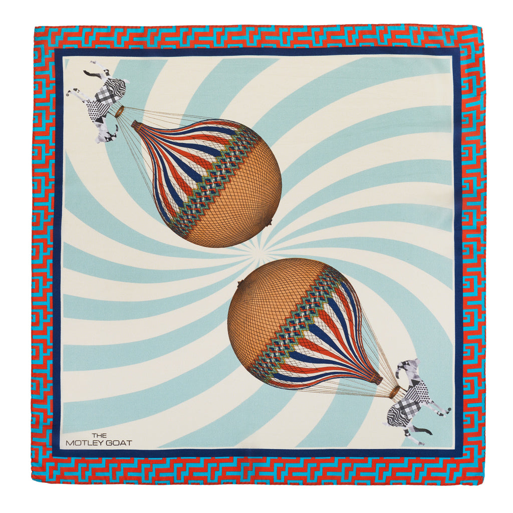 Air Balloons - Sheer Silk Square Scarf