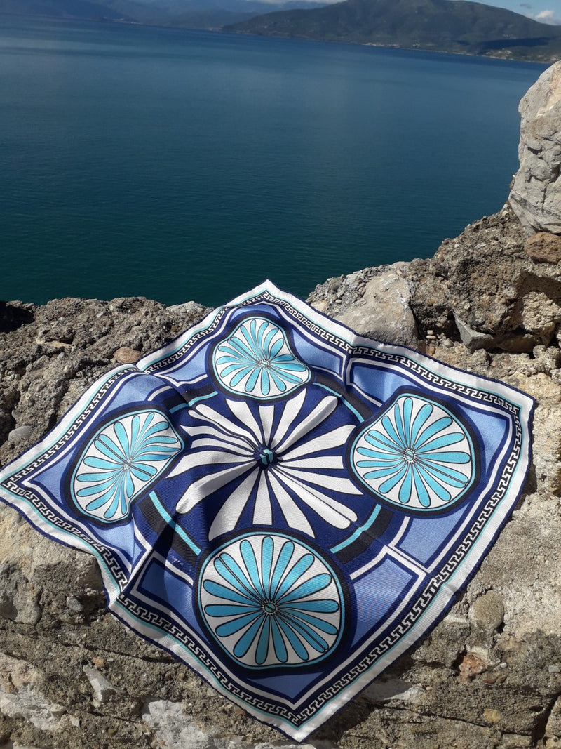 ISLAND   VILLA - Digital Printed Square Silk Scarf