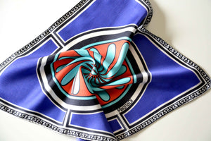 greek design pocket square silk twill scarf made in greece