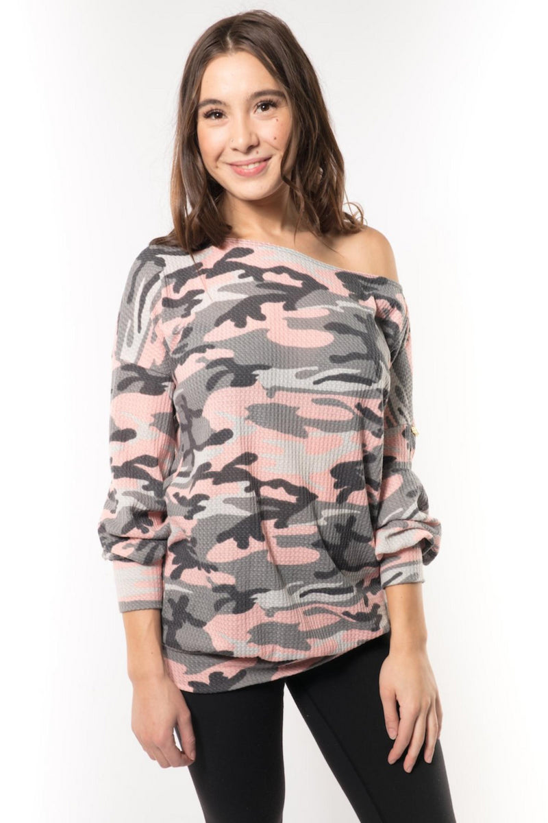 Pink Camo Top - Peskys Insect Repellent Apparel