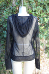 Black Mesh Hoodie Pullover - Insect Repellent Clothing - Peskys