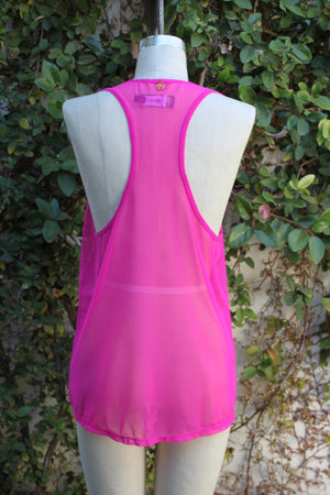 Hot Pink Mesh Tank - Peskys Insect Repellent Apparel