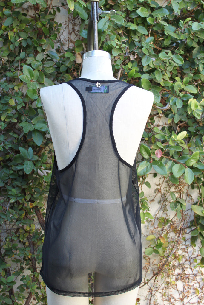 The Lexi Black Mesh Tank