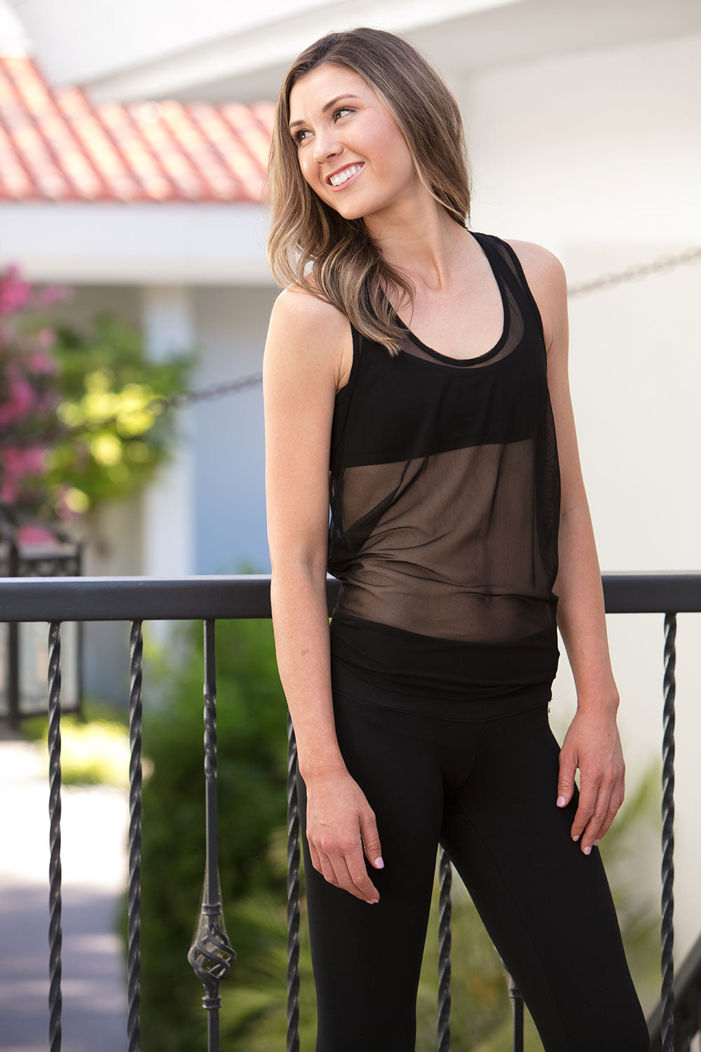 Black Mesh Tank - Mosquito Repellent Clothing - Peskys