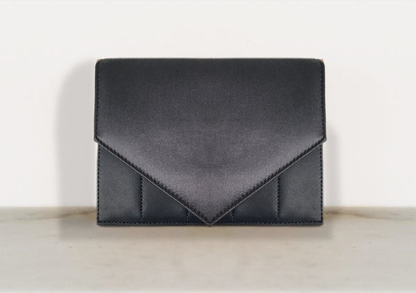 BOUSTINA No.2 || Leather and Satin Mini Bag