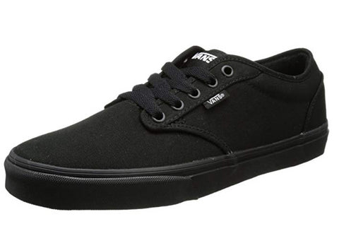 Vans Men Atwood Canvas Low-Top Sneakers, Black (Black/Black)