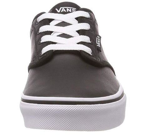 Vans Girls/Boys/Womens'' Atwood Synthetic Leather Low-Top Sneakers Classic Tumble Black