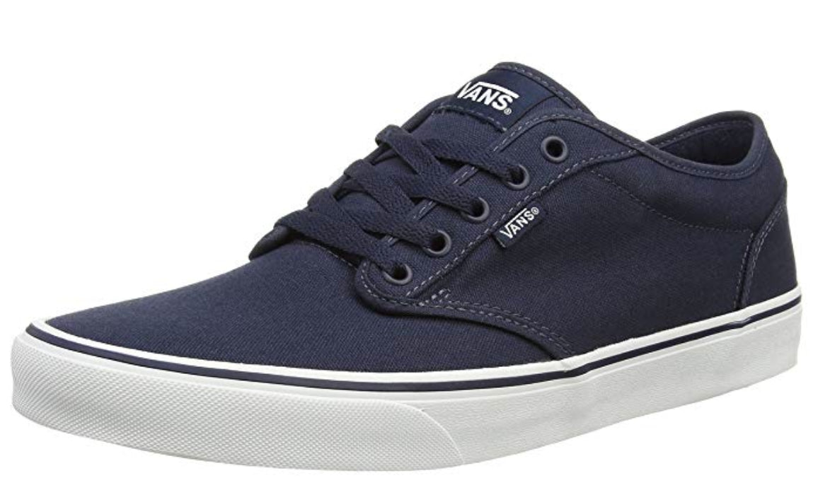 Vans Atwood, Men's Low-Top Sneakers, Blue (Canvas - Navy/White)