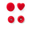 PRYM Heart-Shape Non-Sew Colour Snaps