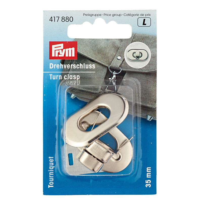 PRYM Turn Clasp with Round Ends 35 x 20mm