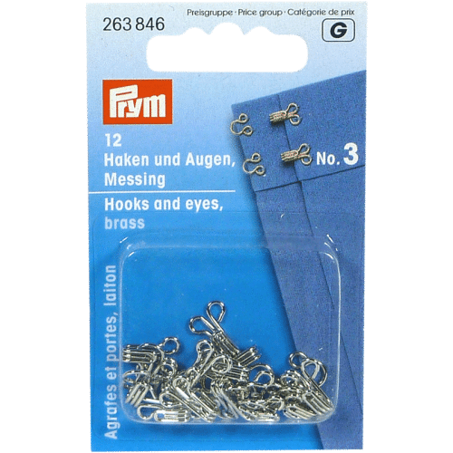 PRYM Hooks and Eyes No.1-3
