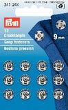 PRYM Press Stud / Sew-on Snap Fasteners Brass 6mm - 21mm