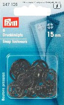 PRYM Press Stud Plastic (Round) 7mm - 21mm