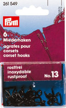 PRYM Corset Hooks and Eyes No.13