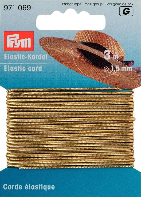 PRYM Elastic Cord 1.5mm in assorted colours