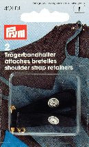 PRYM Shoulder Strap Retainers with Press Fasteners / Safety Pin
