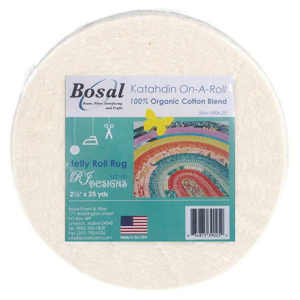 Bosal 390K-25 Katahdin 100% Organic Cotton 2 1/2in x 25YD