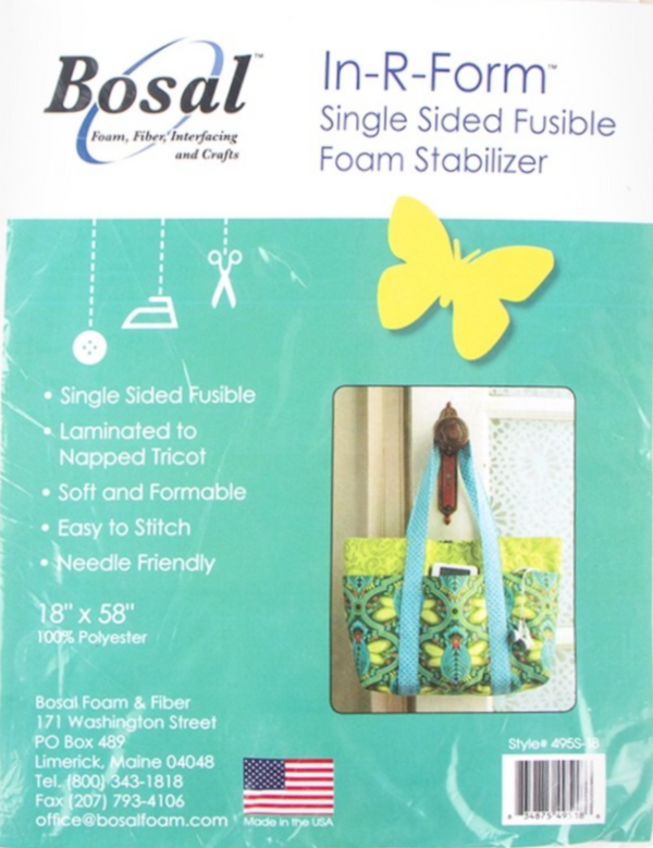 Bosal 495S-18 In-R-Form Single-side Fusible Foam Stabilizer 58in x 18in