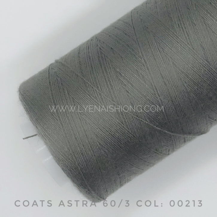 Coats Astra 60/3 Polyester-spun Thread 500Y