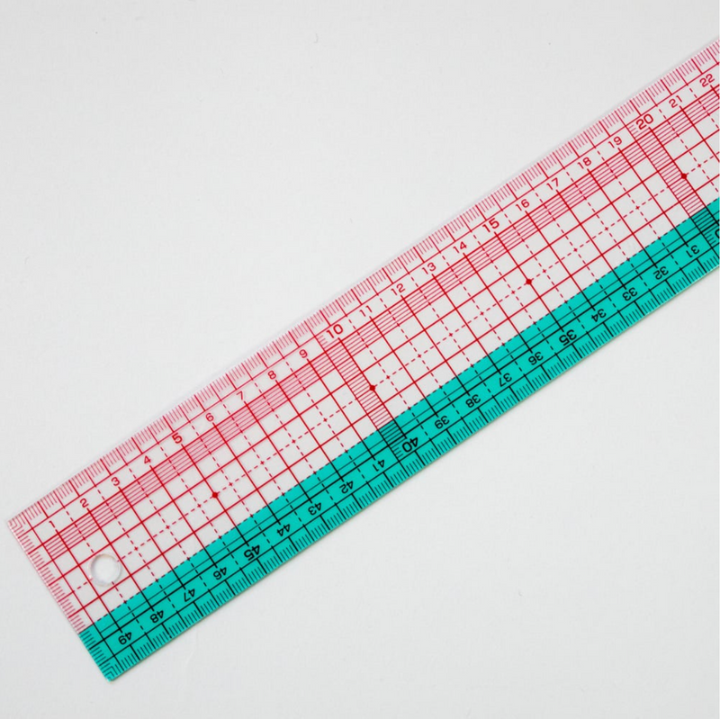 Clover 25-052 Clear Scale Ruler 50cm