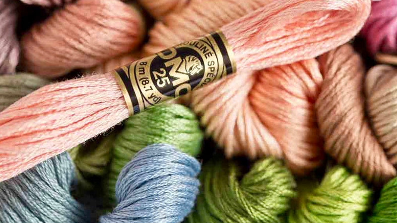 DMC ART 117 Cotton Embroidery Floss (COL 368 - 738)